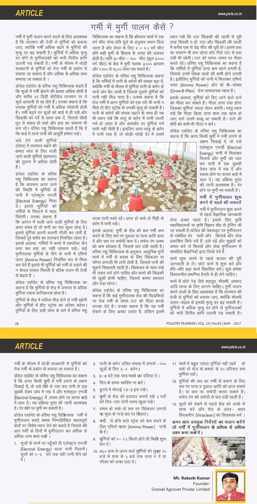 गर्मी में मुर्गीपालन कैसे